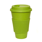 Wholesale Colorful 14OZ 400ML Bamboo Fiber Coffee To Go Cup with Reusable Silicone Lid