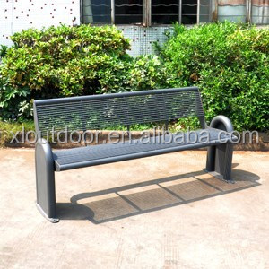 muebles de exterior barato banco de acero inoxidable para el parque y calle