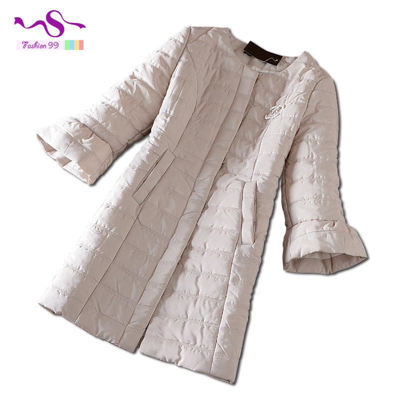 Female's A word trumpet sleeve covered button slim long cotton jacket 2015 winter new women coat plus size YT151