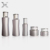 30ml-120ml white cosmetics packaging glass serum bottle jar view cosmetic with screw cap