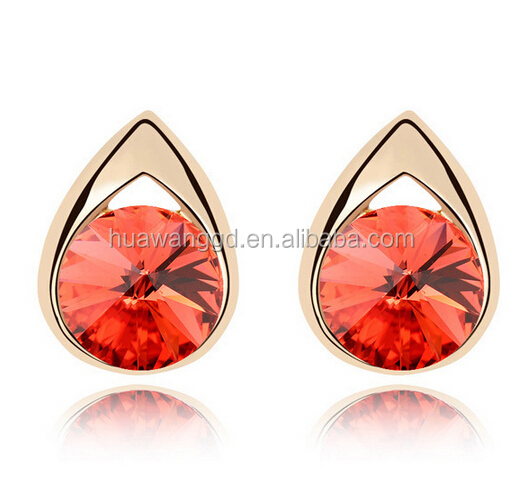 Latest Charm Water Drop Shaped Austria Crystal Stud Earring! wholesale