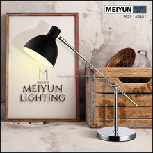 2018 new design flexible hotel metal desk lamp