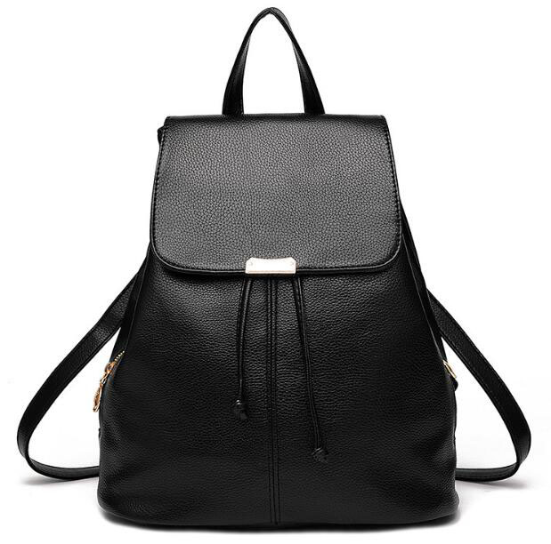 zm32028a simple style solid color bag wholesale outdoor leather backpack