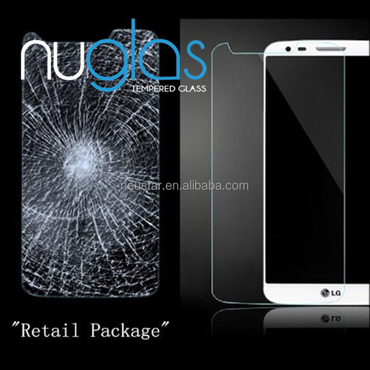 Factory price mobile phone for LG G2 tempered glass screen protector
