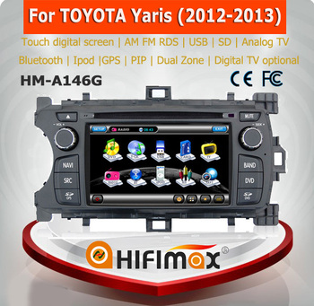 HIFIMAX cheap price promotion touch screen dvd for toyota yaris gps navigation system car multimedia player