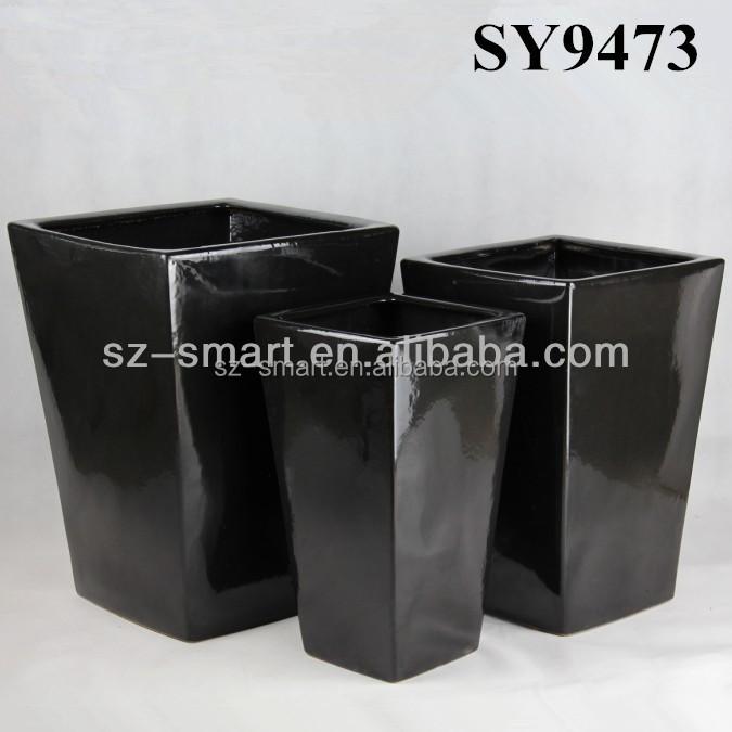 carr en c ramique grand pot de fleurs d 39 int rieur pots fleurs jardini res id de produit. Black Bedroom Furniture Sets. Home Design Ideas