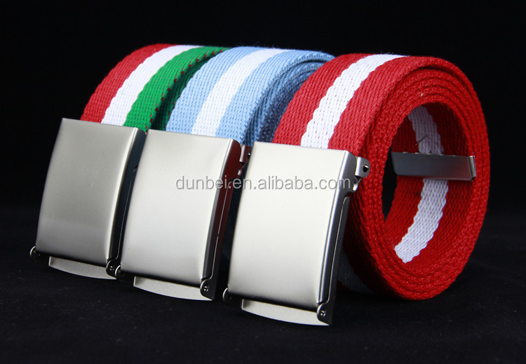 factory wholesale custom 2016 fashion colorful cheap flag football canvas belt