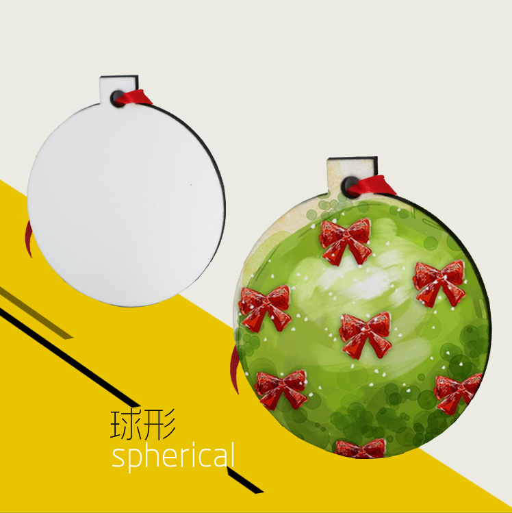 Sublimation Christmas pendant,Design Your Own Wooden Christmas ornament