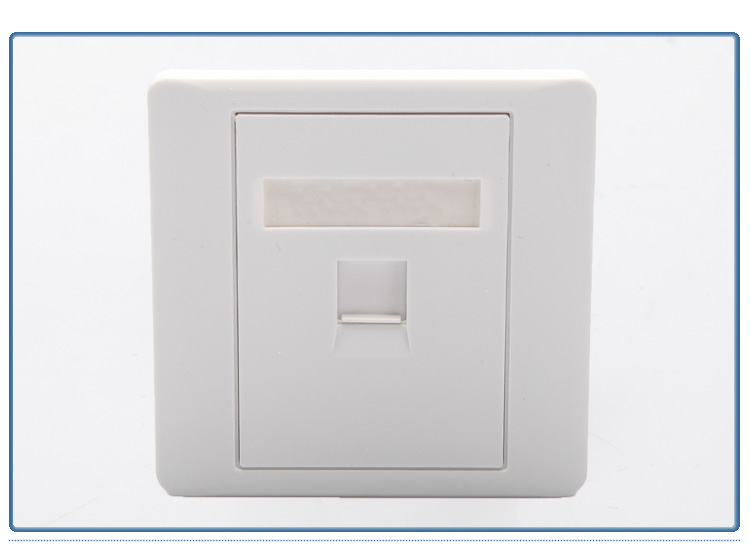 86x86mm Single Port 2pcs//pack 1-Port Faceplate//Wallplate for RJ45//RJ11 Jack