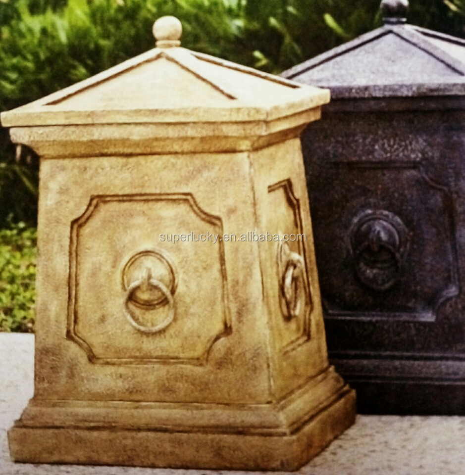 pastoral garden accessories trash can garden fountain garden post