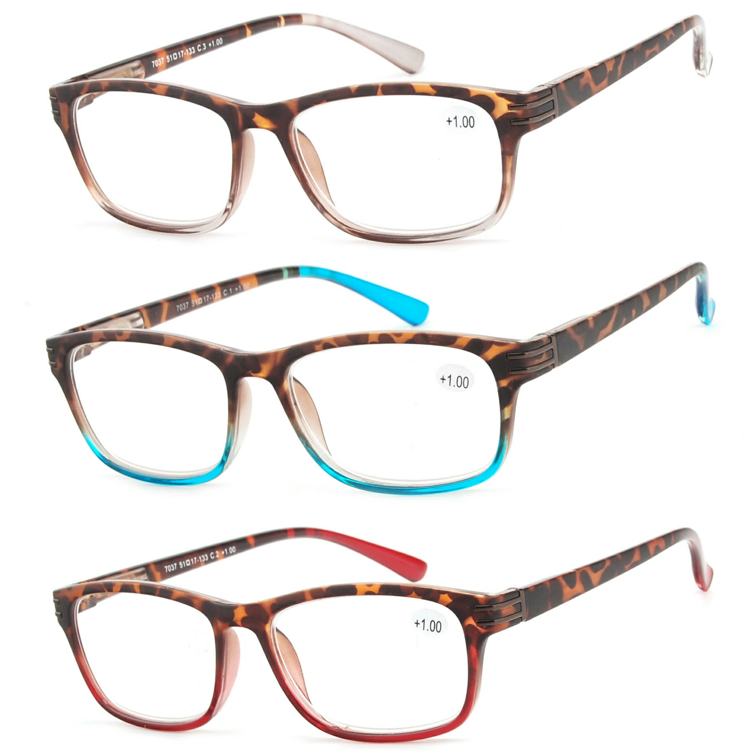 6560eccc0c Get Quotations · Reading Glasses 3 Pair Great Value Stylish Readers Fashion  Men and Women Glasses for Reading