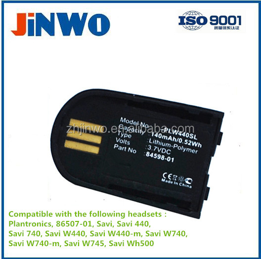 3.7V 140mAh Battery for Plantronics Headset Savi W440 W740 W745 WH500 82742-01 PLANTRONICS HEADSET Battery Replacement