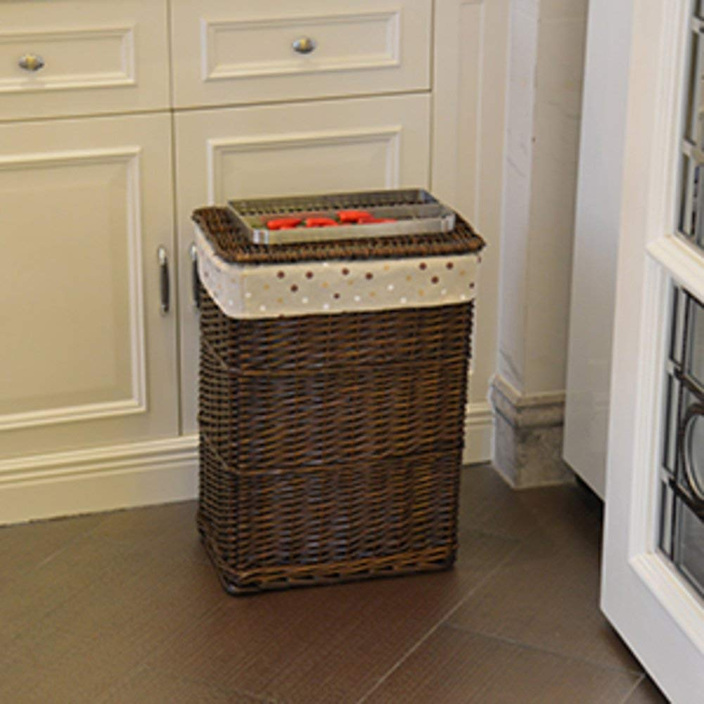 Get Quotations Rectangular Wicker Weave Laundry Basket Cotton And Linen Lining Clothes Storage Hamper Washing
