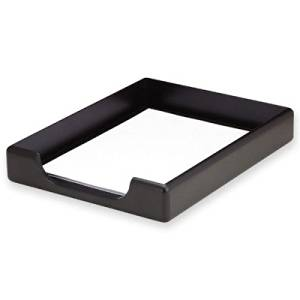Get Quotations · ELDON OFFICE PRODUCTS 62546 Wood Tones Legal Desk Tray,  Wood, Black