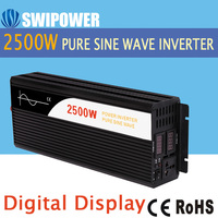 2500W pure sine wave solar power inverter DC 12V to AC 220V digital display with Charger