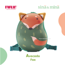 Farlin Sina & Mina 3D Design Cartoon animal hard shell backpack Avocado Fox children backpacks