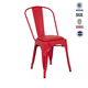 Stackable wholesale high quality leisure living room dining steel model folding metal chair frames seat cushions