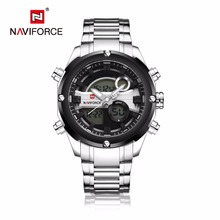 Fashion NAVIFORCE 9088 waterproof sports full steel wristwatch