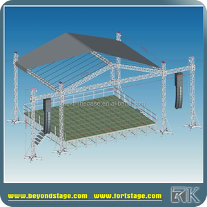 lighting aluminum scaffolding spigot truss roof system for concerts