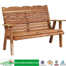 Outdoor Garden Wooden Cedar Loveseat Bench