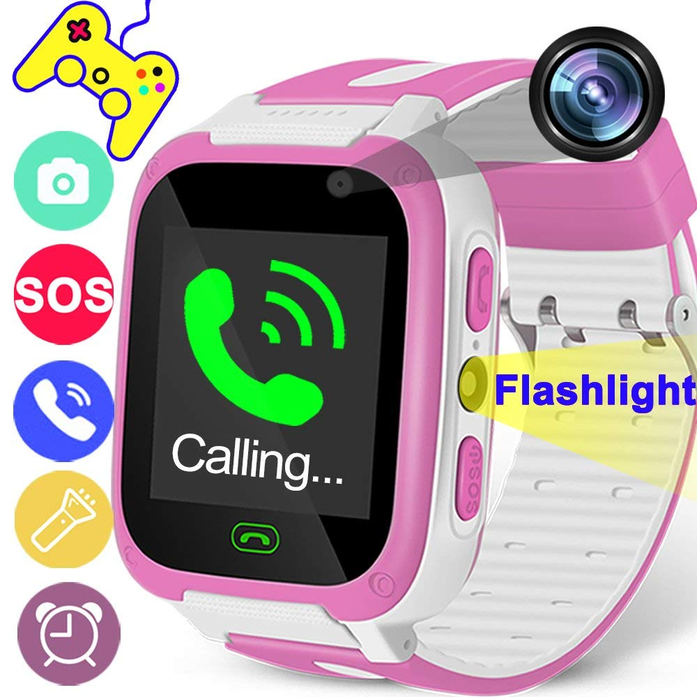 caab1f82120cdc Get Quotations · Kids Smart Watch Phone for Boys Girls Digital Watch with 9  Games 1.44