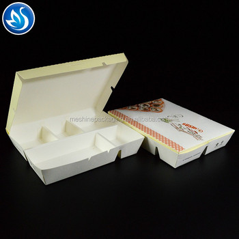 Leakproof Foldable  Paper Bento Lunch Meal Box Fast Food Box