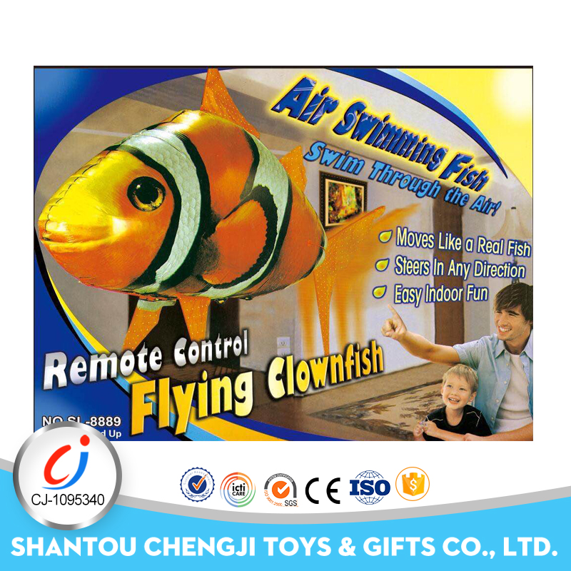 Hot sale inflatable rc flying air robot fish toy