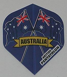 5 sets (15 flights) Australia Pentathlon Ex-Tough Standard Dart Flights