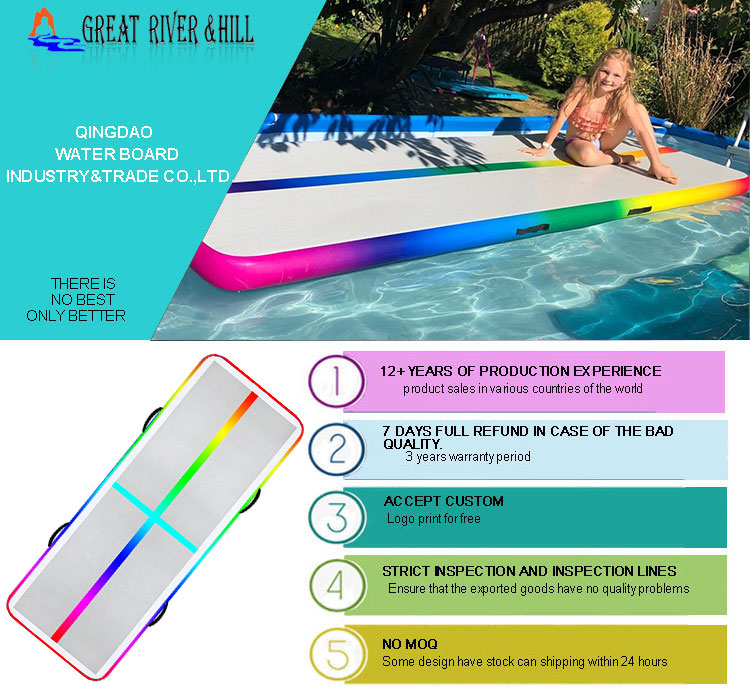 Rainbow air track inflatable airtrack gymnastics mats for sale