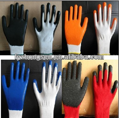 nitrile coated working gloves ,electrical work gloves nitrile