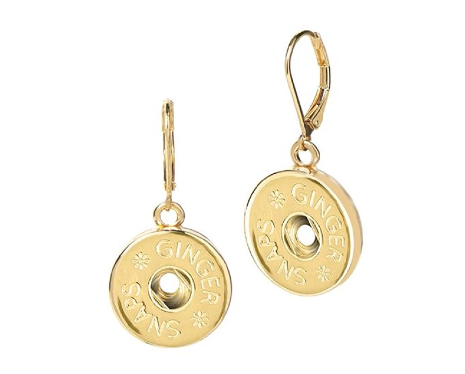 Ginger Snaps (Simulated) Gold Leverback Earrings (Standard Size) SN95-99 Interchangeable Jewelry
