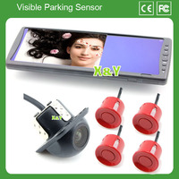 LCD monitor 7 inch and car back up camera and parking sensor system