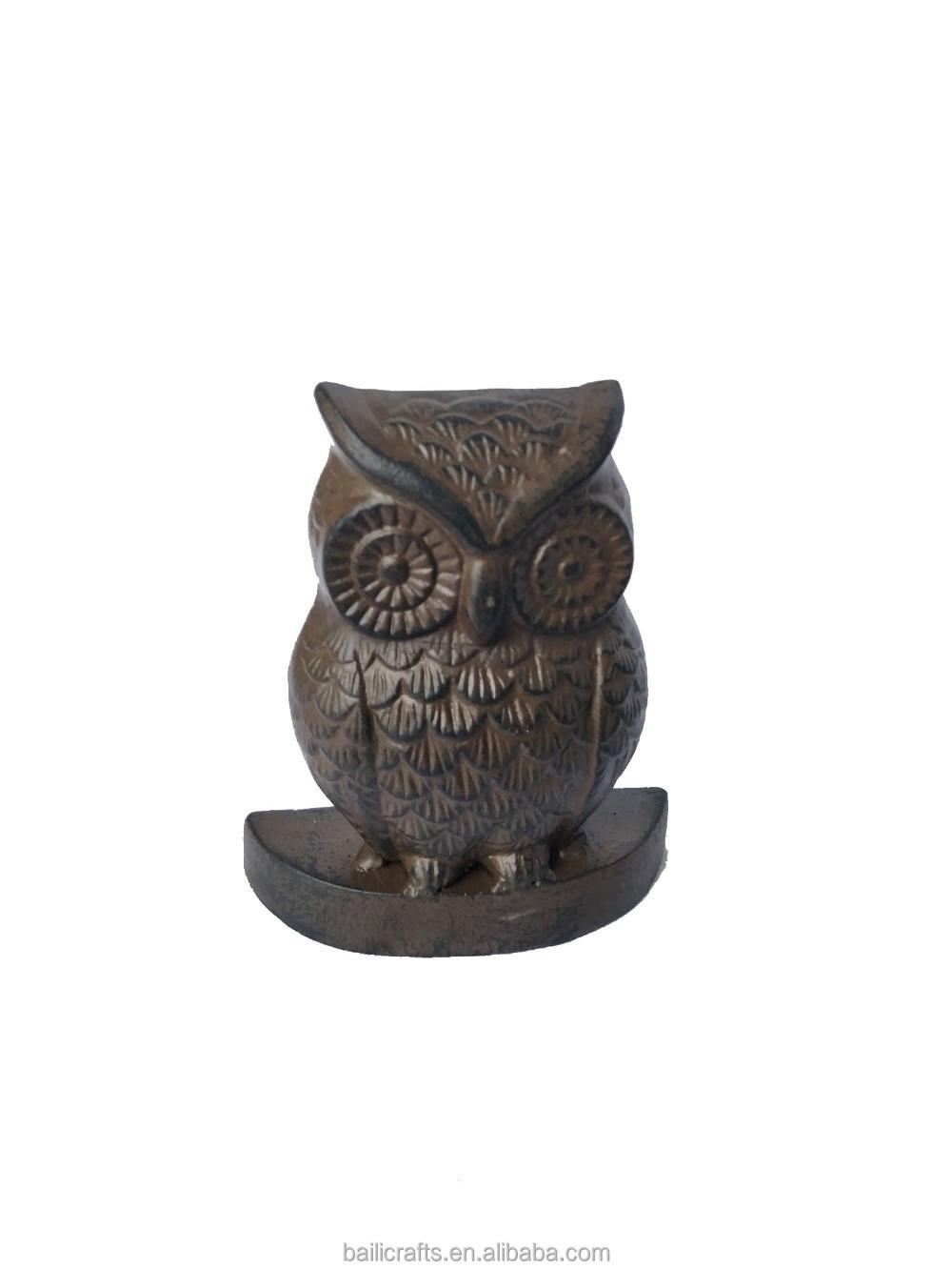 door cast gift iron stops doorstop love owl her endorsed
