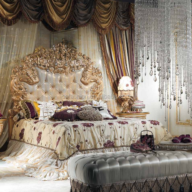 big sale b7c4a 0a34b Italy Bed Room Furniture Style Antique Luxury Royal Bedroom Furniture Set  Wood Carving Bed Frame High Back Designer Bed - Buy Wood Double Bed ...