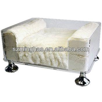 Claro Acrilico Sofa Cama De Acrilico De Lujo Para Mascotas Perro