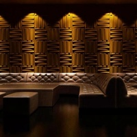 Living Luxury Non-woven Wallpaper 3d Effect Wood Wall Panel For Walls