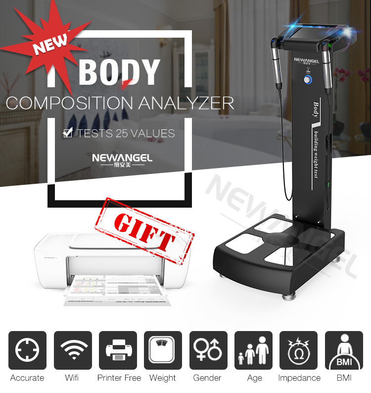 Human body composition analyzer Professional body fat analyzer with printer