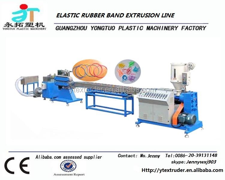 High efficiency TPUTPRSBS rubber band extrusion production line/making machine