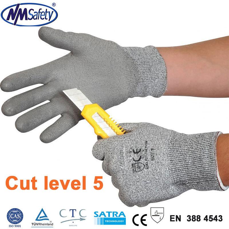 Nmsafety устойчивы уровне 5 рабочих защитные перчатки, Мода Dyneema перчатки