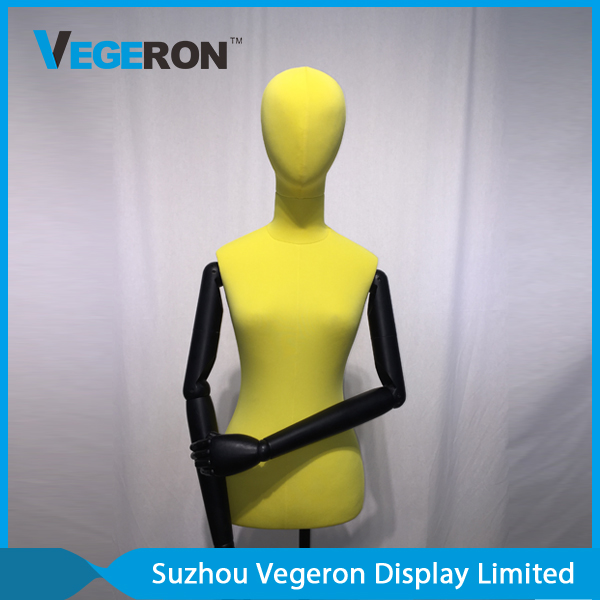 window display half body female mannequin torso
