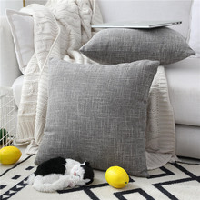 Tessile Faux Lino Piazza 2 Tone Tessuto Fine Throw Pillow Sham <span class=keywords><strong>Cuscino</strong></span> Case