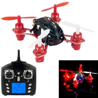 WLtoys Velocity Mini Nano-sized RC Quadcopter Aircraft 4-channels 3D Rotation 2.4G Radio Control with LED Lights, Suit for Over
