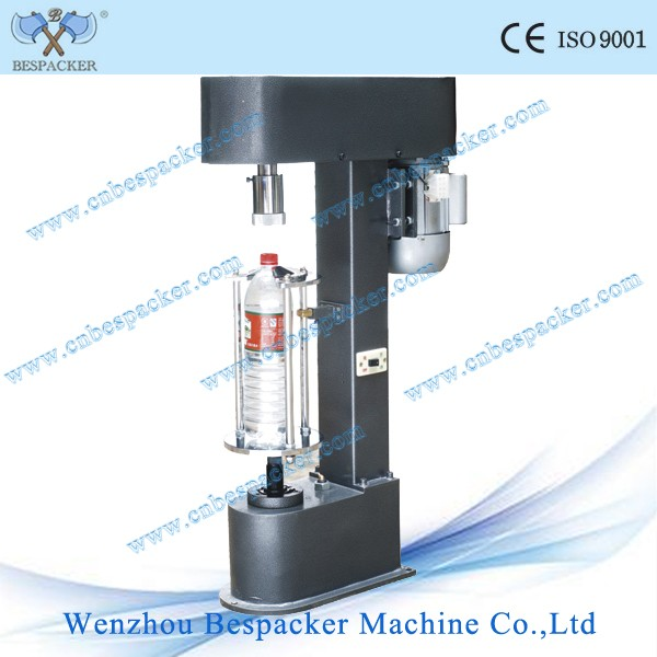 Manual water glass plastic cover bottle capping lock machine