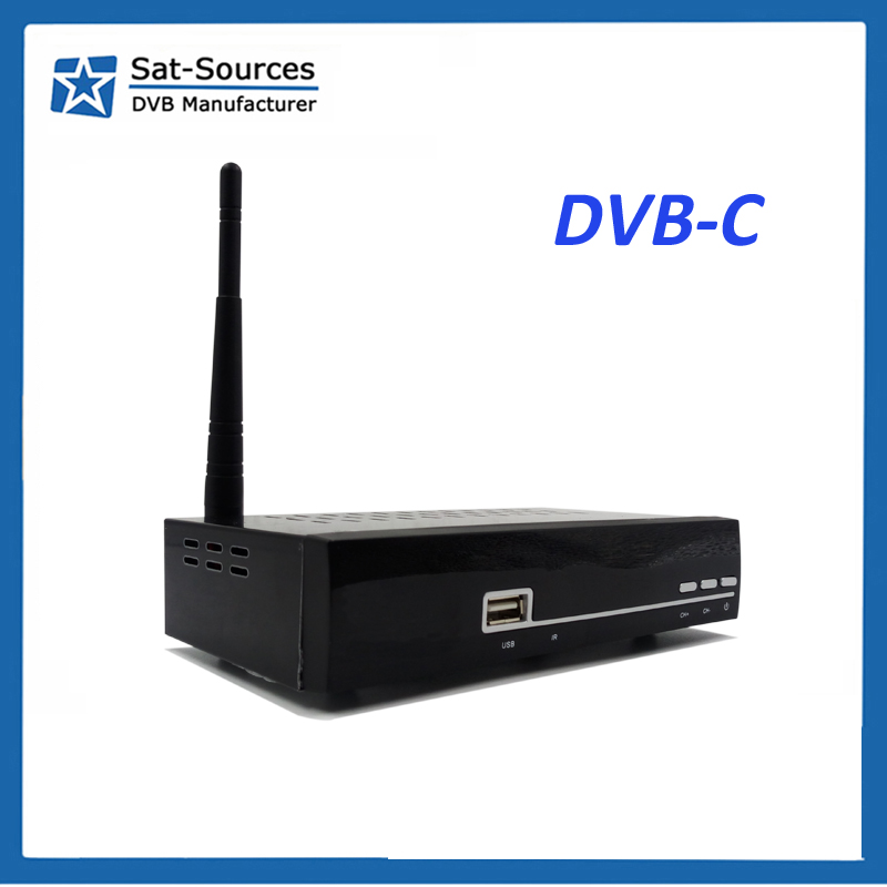 Newcamd DVB-C Receiver for Brazil Linux System LAN port WiFi 3G Youtube IPTV CS Set Top Box