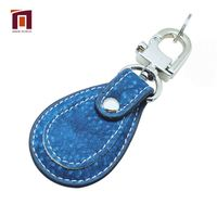 Factory Wholesale Souvenir Gift Customized Colorful Leather Keychain