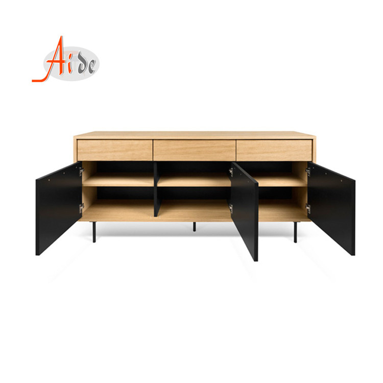 high gloss antique furniture 3 layers drawers sitting room tv stand with six compartment