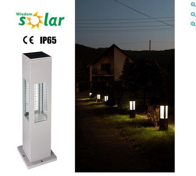 A prueba de agua led luces solares al aire libre llev for Balizas solares para jardin