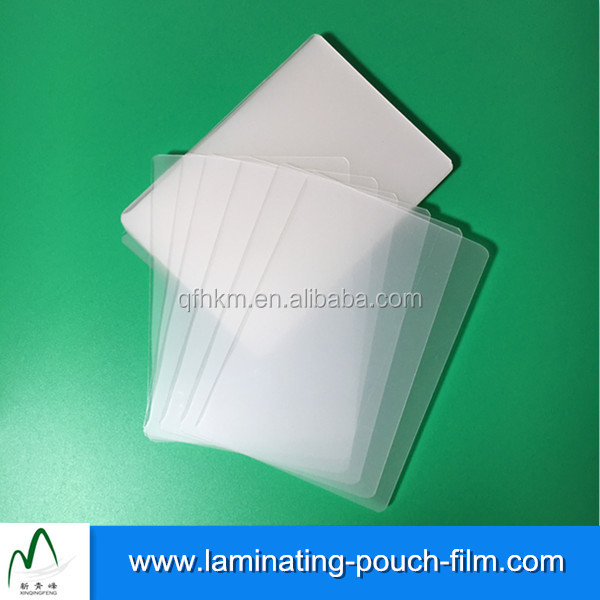 Impermeable recubierto Eva laminación Films brillante PET ID badge