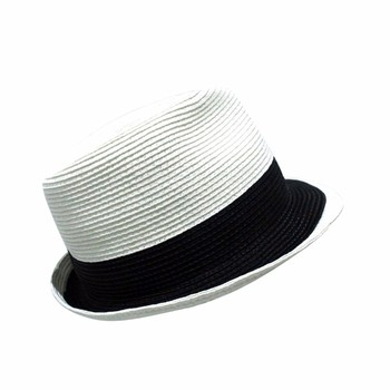 bcacba2a Oem Panama Straw Hat Black With Red Band Fedora Hat Women's Hat ...