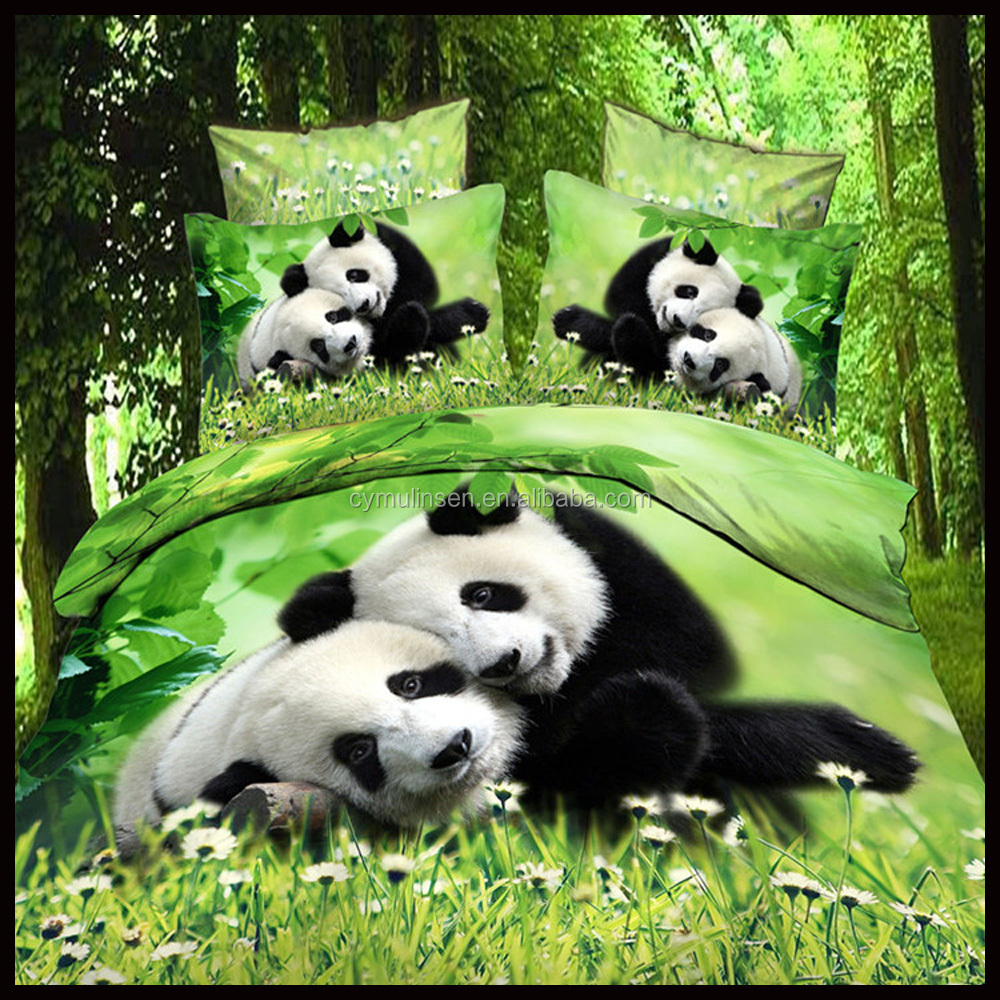 flower/animal design Polyester 3pcs fitted bed sheet 85GSM